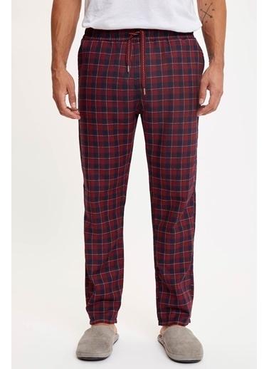 Defacto –Fit Ekose Regular Fit Pijama Alt Kırmızı